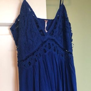 Free people never been worn blue lace dress